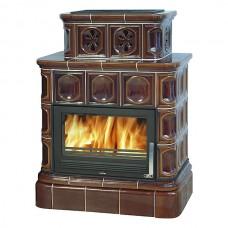 Печь-камин Karelie на кафельном цоколе